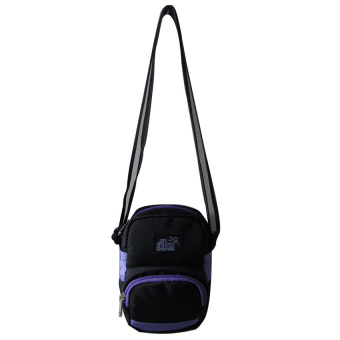 ILLUSTRAZIO High Density 420 Sling Bag (Black Violet)