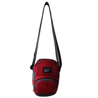 ILLUSTRAZIO High Density 420 Sling Bag (Red Grey)