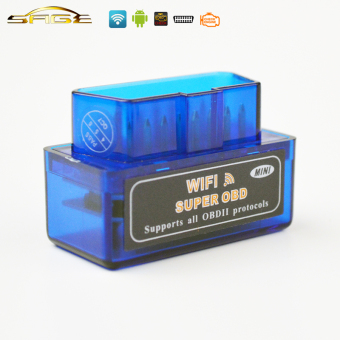 Harga WIFI Blue Super MINI ELM 327 OBD2 / OBDII ELM327 V1.5 Car Code Reader