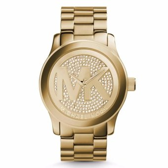 Michael Kors Gold Tone Runway MK Logo Dial Crystal Oversized Watch MK 5706 Price Philippines