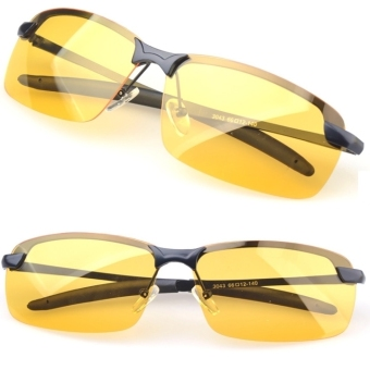 Harga Men's Polarized Driving Sunglasses Yellow Lens Night Vision Driving