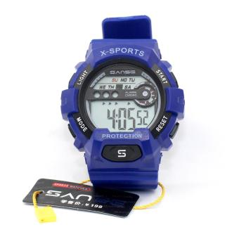 Harga Sanse Water Resistant Uni-sex Watch TPU resin Strap-636 Blue