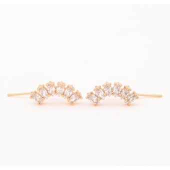 Harga Glamorosa Diamond Bar Ear Pin (Gold)