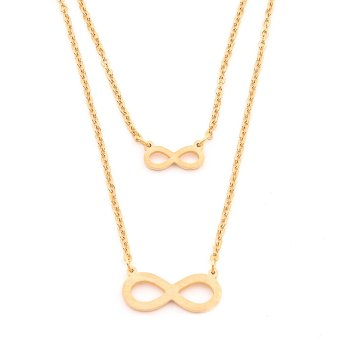 Harga Glamorosa Infinite Infinity Chain Necklace (Gold)