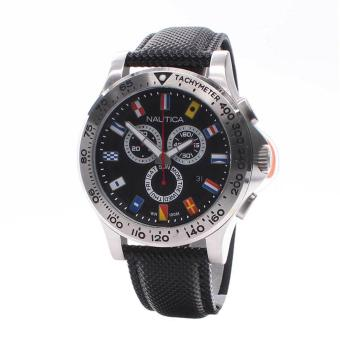 Nautica Watch NST 600 Flag Black Stainless-Steel Case Leather Strap Mens NWT + Warranty A19595G Price Philippines