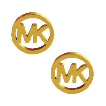 "SS144 Stainless Steel ""MK"" Gold Earrings Price Philippines"