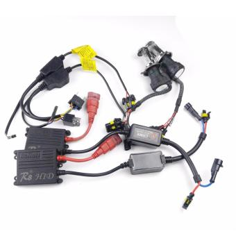 Harga R8 H4 H/L Car 35W 4300K HID Xenon Bulbs Light with Ballasts Wire Harnes Kit