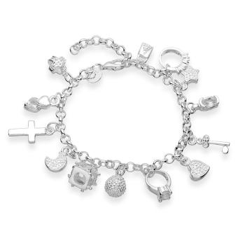 Amart Sterling Silver Pendants Chain Bracelet (Silver) Price Philippines