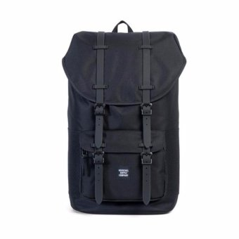 Harga Herschel Supply Co. Little America Backpack (Black Ballistic/Rubber)