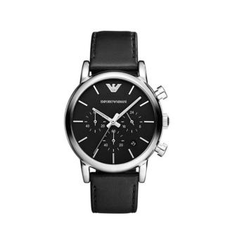 Harga EMPORIO ARMANI Classic Chronograph Leather Men's Watch AR1733