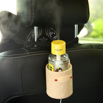 Harga Water Bottle Car Aroma Diffuser Steam Air Humidifier Aromatherapy Essential Oil Diffuser Portable Mist Maker Fogger Humidifer Yellow - Intl
