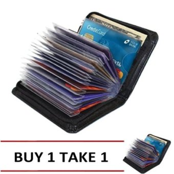 Harga Security Credit Card Wallet (Black) By 1 Take 1