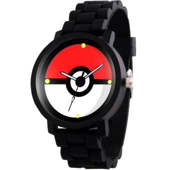 ANIME ZONE Pokeball Pokemon Anime Rubber Strap Gamer Watch (Black) Price Philippines