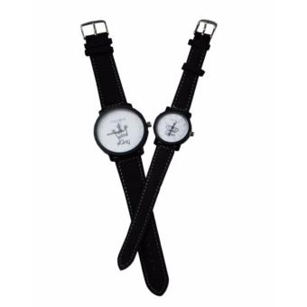 Harga Couple watch (king Queen-White)-02