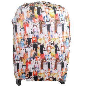 "Raffles Summer Fun Luggage Cover for 20"" Luggage (White Cats) Price Philippines"