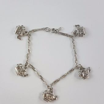 Jewelworld Bangkok Tea Pot Charm Bracelet (silver) Price Philippines