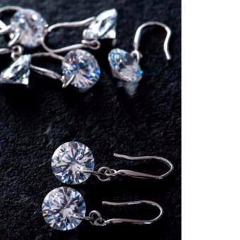 Harga Bella CZ Cubic Zirconia Drop earrings in Silver tone