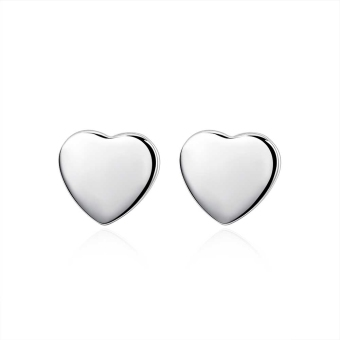 Amart Sterling Silver Beautiful Lovely Heart Studs Earrings(Silver) Price Philippines