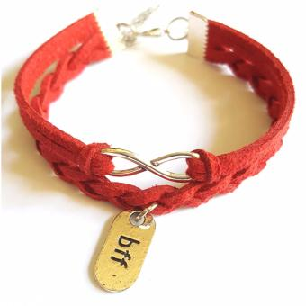 Harga BFF Infinity Braided Red Bracelet