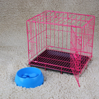 2 Door Pet Dog Cat Metal Collapsible Wire Cage Crate Kennel with Plastic Tray Price Philippines