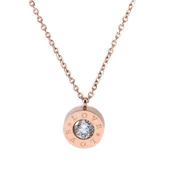 Harga Athena & Co. Love Amour Necklace (Rose Gold) (Stainless Steel)