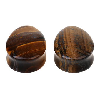 Harga MagiDeal 1 Pair Ear Plug Body Jewelry 25mm Tigers eye