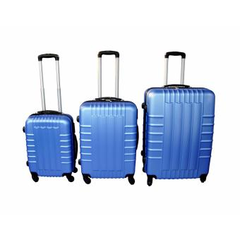 "FireBars Case Travel Luggage F-8001 set of 3 size (20""/24""/28"") Highlight Blue Price Philippines"