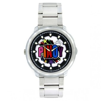 UniSilver TIME Makabayan Pinoy Superstar Unisex Silver / Gray / Black Analog Stainless Steel Watch KW821-1022 Price Philippines