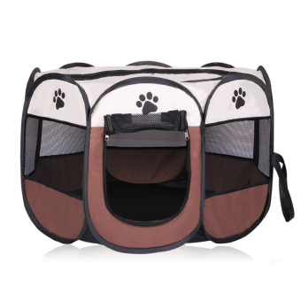 Pet Dog Bed Kennel Play Pen Soft Playpen Cage Folding Crate Brown – L Size Price Philippines