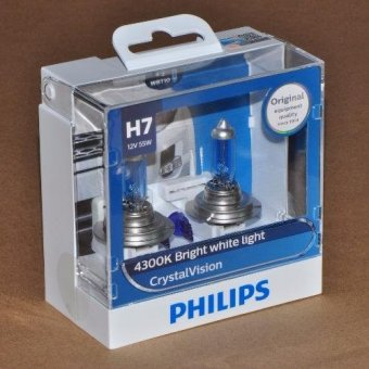 Harga Philips Crystal Vision H7 headlight replacement bulb
