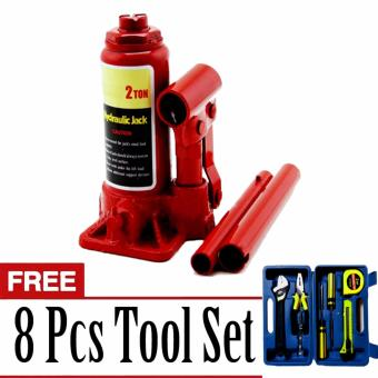 Harga Prostar 2 Ton Bottle Jack with Free 8 pcs Tool Set