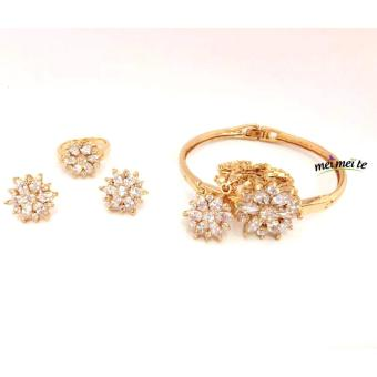 MEI MEI Flower Crsytal 14k Bangkok Jewelry Set Price Philippines