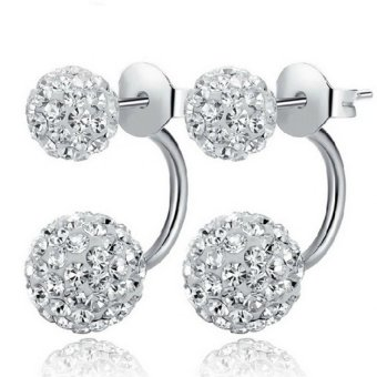 Women's 925 Sliver Rhinestones Balls Christmas Earrings Silver Price Philippines