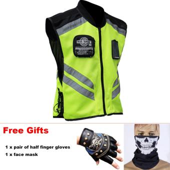 Riding Tribe JK-22 High Quality Reflective Jacket Vest for Motorcycle Motocross Riding Cycling - intl Price Philippines