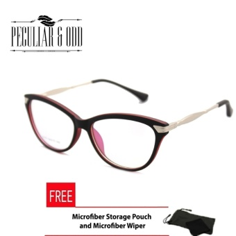 Cats Eye Style Replaceable Computer Eyeglasses Unisex_E175_Red Price Philippines