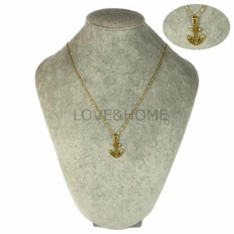 Harga LOVE&HOME Stainless Steel Anchor with Love Pendant Necklace (Gold)