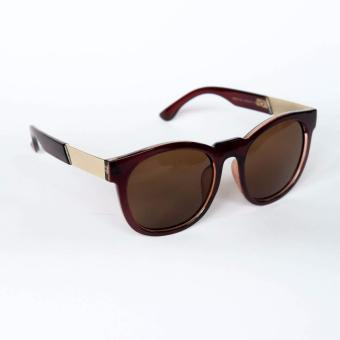 Atlas Apparel Naomi Oversized Womens Sunglasses (Brown/Gold) Price Philippines