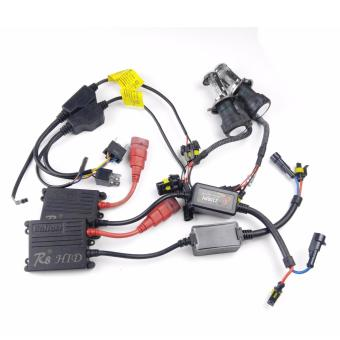 Harga R8 H4 H/L Car 35W 12000K HID Xenon Bulbs Light with Ballasts Wire Harnes Kit