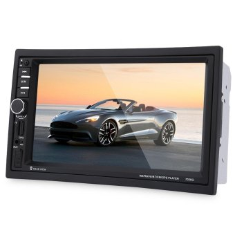7020G 7 inch Car Audio Stereo MP5 Player Remote Control Rearview Camera GPS Navigation Function (SOUTHEAST ASIAN MAP) (Black) - intl Price Philippines
