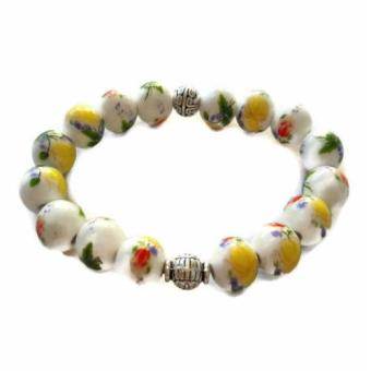 Harga Be Lucky Charms Feng Shui Ceramic Bead Yellow and White