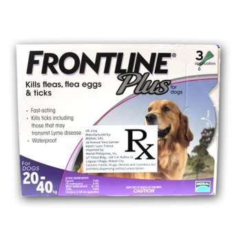 Harga Frontline Spot on Plus Tick and Flea for Dogs (20-40kg)