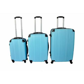 "FireMetal Hard Case Travel Luggage F-8021 set of 3 size (20""/24""/28"") Sky Blue Price Philippines"