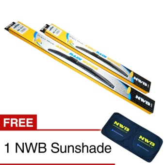 NWB Aero Rain Wiper Blade for Hyundai Accent 2013 - (SET) Price Philippines
