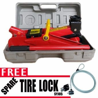 Harga Prostar 2 Ton 330 mm Max Lift Floor Jack with Free Anti-Theft Spare Tire Lock SYJ05