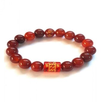 Harga Be Lucky Charms Feng Shui Agate with Protection Mantra Bracelet