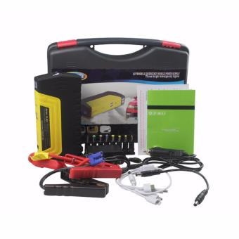 PINOY PUFF 50,800MAH Portable 12 Volt Car Battery Jump Starter and Power Bank Include Premium Recoil-Free Jumper Cables/Laptop and Smartphone Charging Cables(black/yellow) Price Philippines