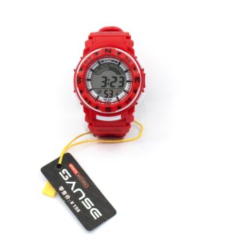 Harga Sanse Water resistant Kid's Watch TPU resin Strap s-623 Red