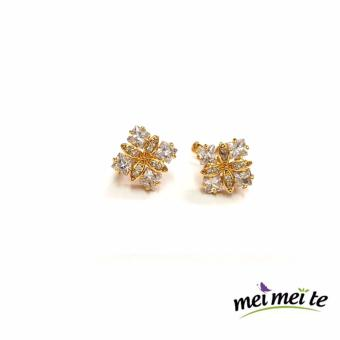 Flower Earrings 14k bangkok gold Jewelry (001) Price Philippines