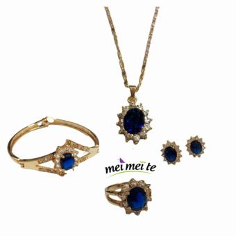 14k bangkok gold Blue Sapphire 4 in 1 set Price Philippines
