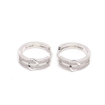 Harga Glamorosa Eternity Moondust Hoop Earrings (White Gold)
